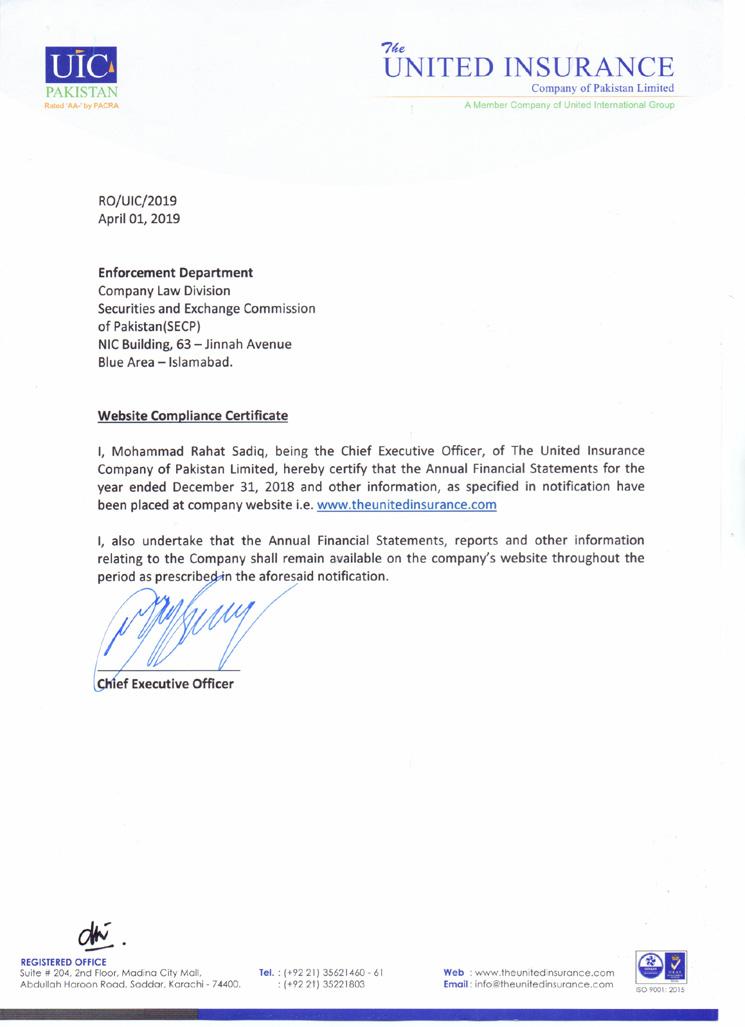 compliance certificate pdf
